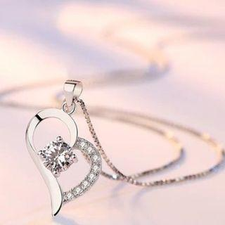 S925 Silver Love Always Crystal Necklace