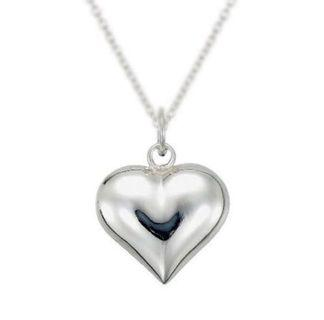 S925 Silver Full Round Heart Necklace