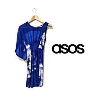 Was $28! ASOS   Blue One Shoulder Dress