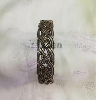 🚚 甘丹文物 ^_^ 西藏 民族風 銅編織 麻花 手環 (寬)