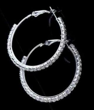 🚚 Diamond loop earrings