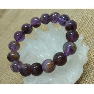 天然水晶 紫幽靈手串 11mm