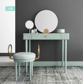 含運含安裝!不鏽鋼電鍍實木梳妝桌椅組合,四種顏色可選,多個儲物空間,分類擺放,讓收納僅僅有條。