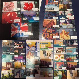🚚 (Any 2 for $10) Starbucks Various City Country Cards