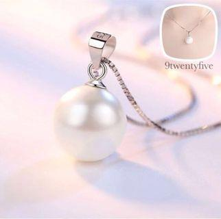 S925 Silver Classic Sheer Gold Pearl Necklace