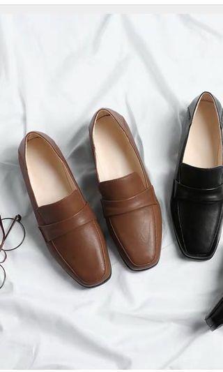 🚚 棕色40-41樂福鞋九成新