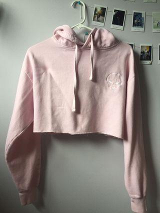 Ripndip pink crop hoodie