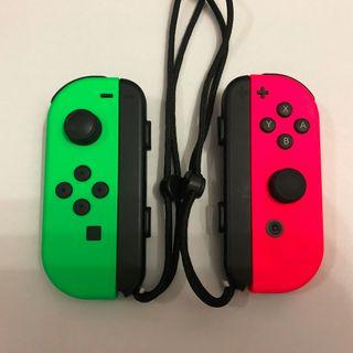 Nintendo Switch Joy Con Neon Green Neon Pink