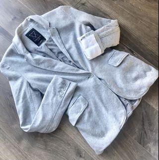 Aritzia Talula Grey Cotton Blazer size 2