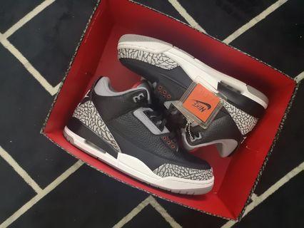 ed749e9f9651 Air Jordan 3 black cement