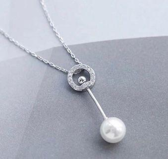S925 Silver is Classy Swarovski Crystal Pearl Necklace