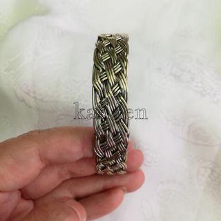 🚚 甘丹文物 ^_^ 西藏 民族風 銅編織 麻花 手環 (細)