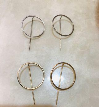 🚚 耳環 三副合售 純銀