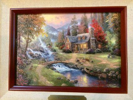 Pair of Limited Edition Art & Framed By Thomas Kinkade