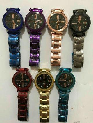 Jam Fashion Gucci Rantai Tanggal aktif ( 7 warna )