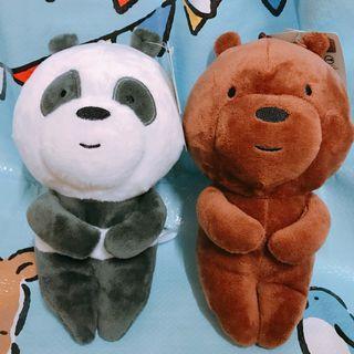 【台灣直送】 We bare bears 熊熊遇見你 等車 坐姿 公仔 玩偶 娃娃 生日禮物