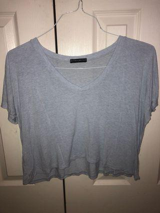 Brandy Melville Baby Blue Vneck Tshirt