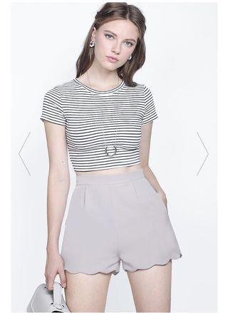 *PREMIUM* BNWT FAYTH Penny Scallop Shorts (Grey)