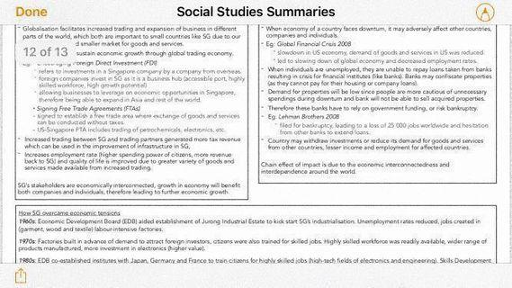 Social Studies O Level Summary Notes
