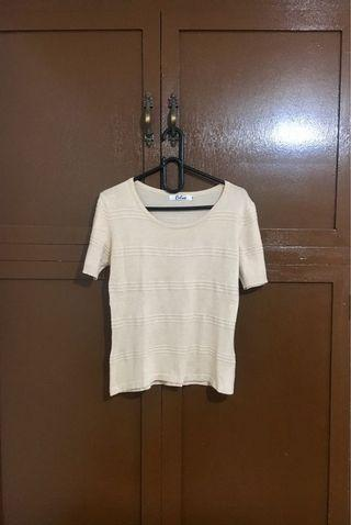 Calico coffee blouse