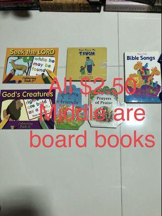 Young children Christian books. Bible