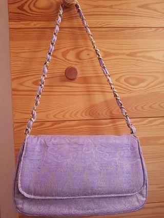 Pure Terengganu Songket Lilac Bag