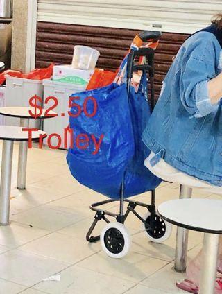 Cheap $2.50 market trolley grocery shopping cart