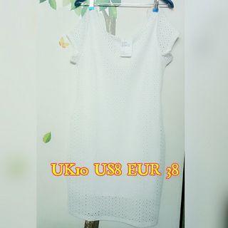 ELLE - POLY Knit White Dress