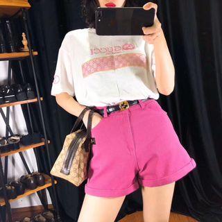 特價!正品vintage古著日本二手名牌Gucci tee+短褲