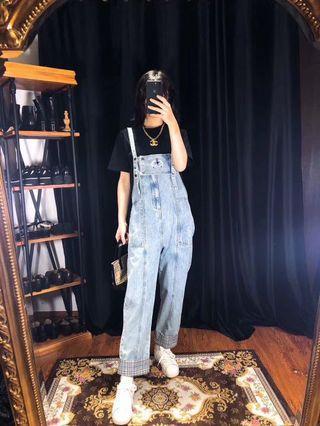 正品vintage古著日本二手名牌Burberry工人褲