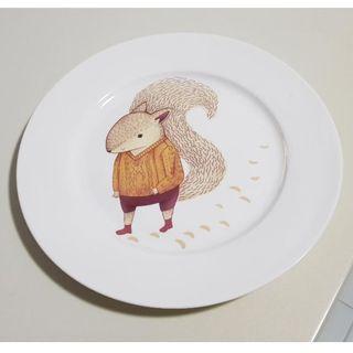 19cm Squirrel Picture Plate