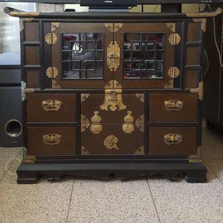 (CLEARANCE / FAST DEAL) Korean Wood TV Console