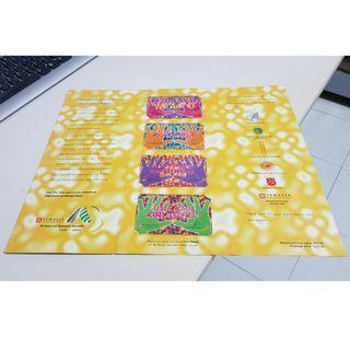 Temasek Polytechnic Mint Phone Cards for 10th Anniversary in Year 2000