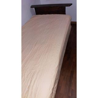 Stained Pine Wood Bed Frame (Super Single)