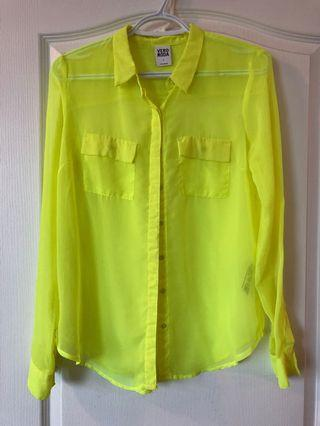 Vero Moda neon yellow shirt