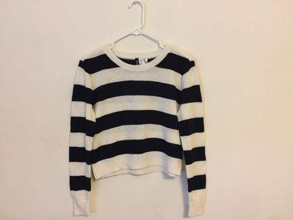 H&M Black and White striped sweater