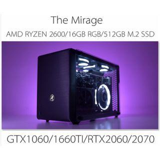 AMD RYZEN5 2600 A4 SIZE SMALL FORM FACTOR RGB GAMING CUSTOM DESKTOP PC WITH GTX1060/1660TI/RTX2060/2070(BUILD TO ORDER)