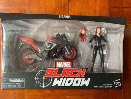 Marvel Legends Black Widow with Cycle