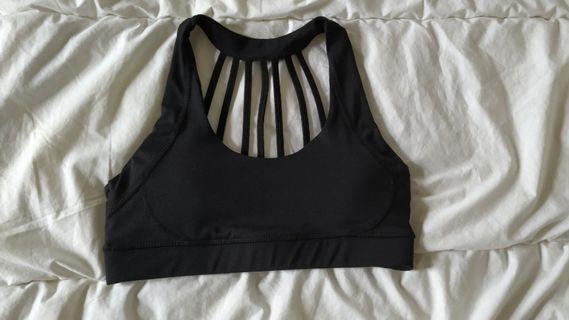 COTTON ON BODY black strappy sports bra crop top yoga S / 8