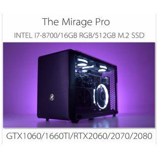 INTEL I7-8700 A4 SIZE SMALL FORM FACTOR RGB GAMING CUSTOM DESKTOP PC WITH GTX1060/1660TI/RTX2060/2070(BUILD TO ORDER)
