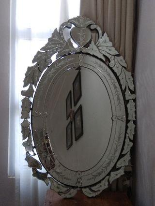French style etched mirror