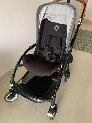 Bugaboo Bee 3 Black Edition with Grey canopy