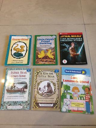 Set of 6 first reading books