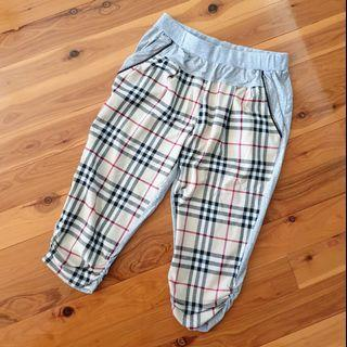 Women's size L Gorgeous casual tartan plaid print 3/4 capri pants - AS NEW