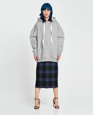 Zara Oversized Grey Hoodie Dress