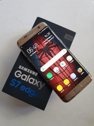 Samsung S7 Edge Apa adanya Retak fungsi normal
