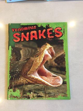 Venomous snakes - great children book