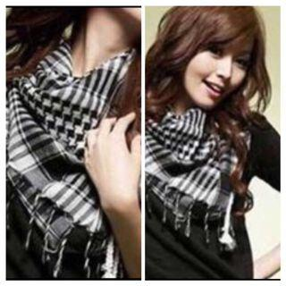 95 x 95 Checkered Scarf Shawl 100% Cotton