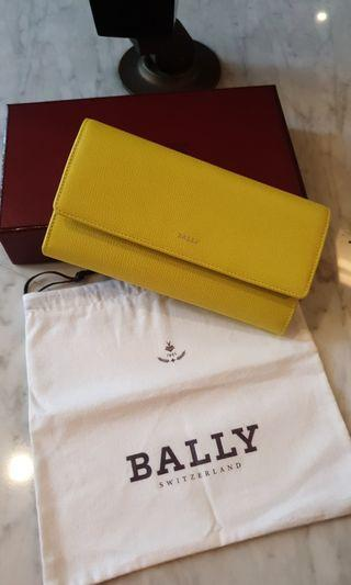 Bally Yellow Trifold Wallet