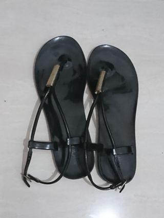 Rubi Black Jelly Sandals
